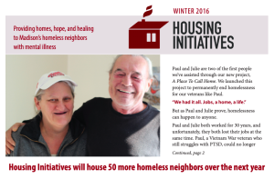 Housing Initiatives Newsletter screen shot